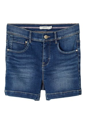HIGH WAIST - Shorts vaqueros - medium blue denim