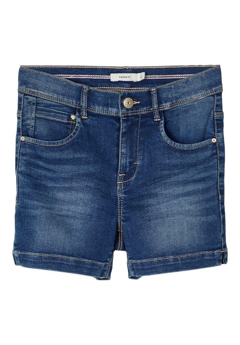 Name it - HIGH WAIST - Denim shorts - medium blue denim