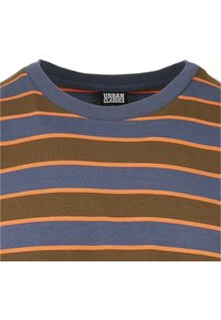 Urban Classics - YARN DYED BOARD STRIPE - T-shirts basic - summerolive/vintageblue - 8