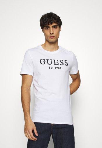 T-shirt med print - true white