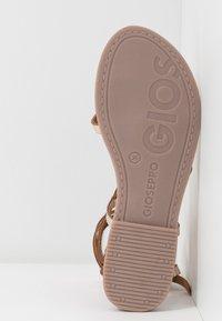 Gioseppo - CLAVERACK - T-bar sandals - oro - 6