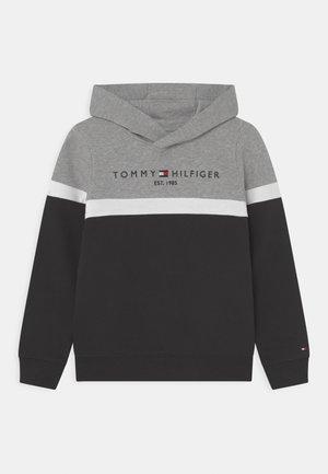 COLORBLOCK HOODIE - Sweatshirt - black