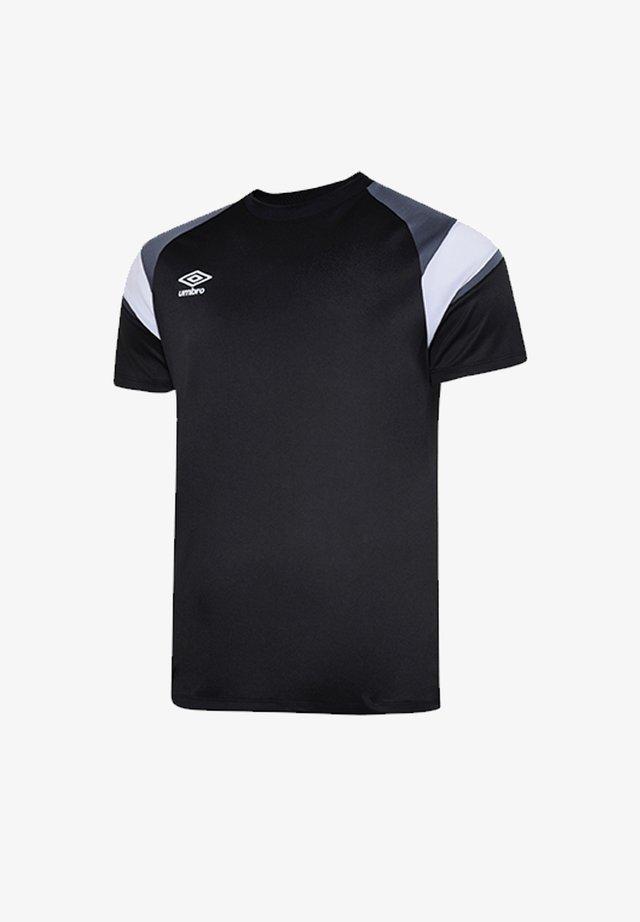 Basic T-shirt - schwarzgrauweiss