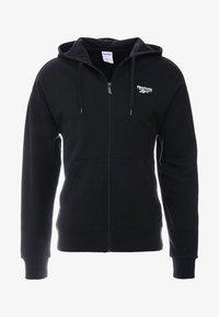 FOUNDATION CASUAL FULLZIP HODDIE PULLOVER - Zip-up hoodie - black