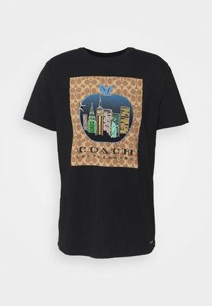 APPLE SIGNATURE  - T-shirt imprimé - black
