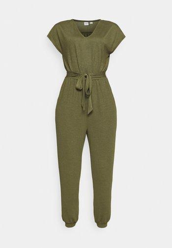 DRAPEY - Jumpsuit - army jacket green