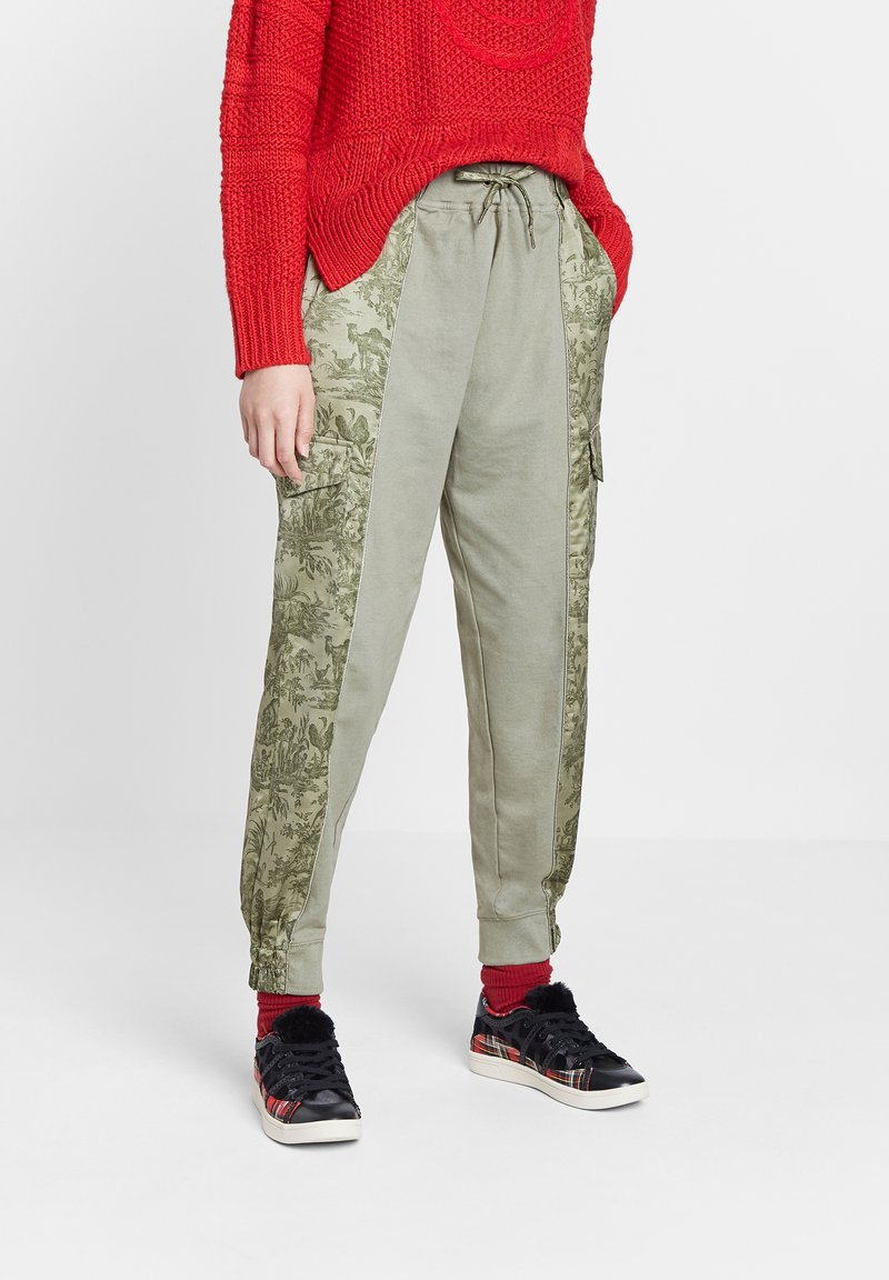 Desigual - Trousers - green