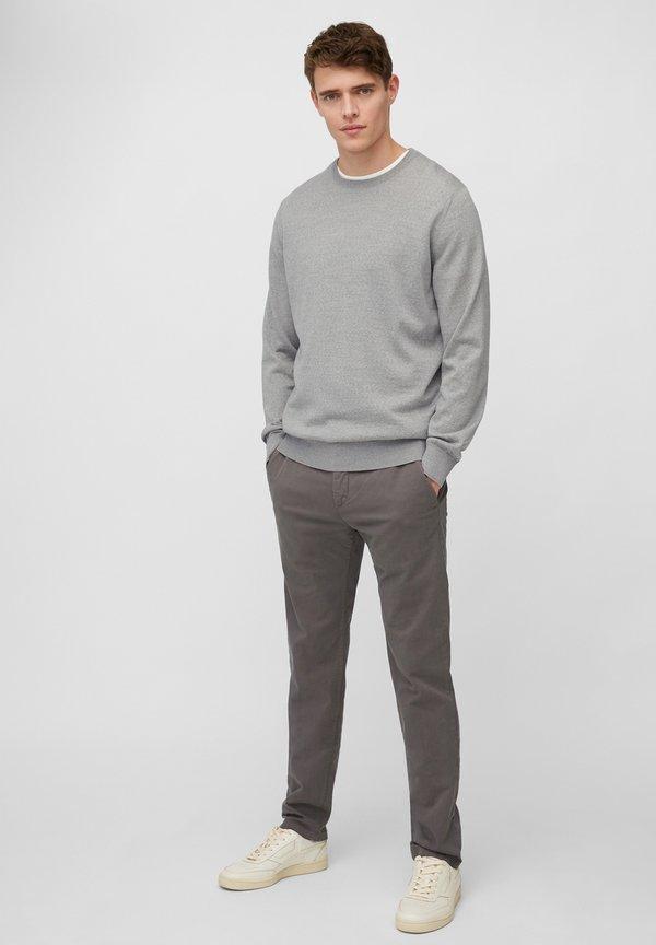 Marc O'Polo Sweter - grey melange/szary Odzież Męska GPLE