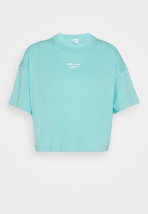 CROPPED TEE - Camiseta estampada - turquoise