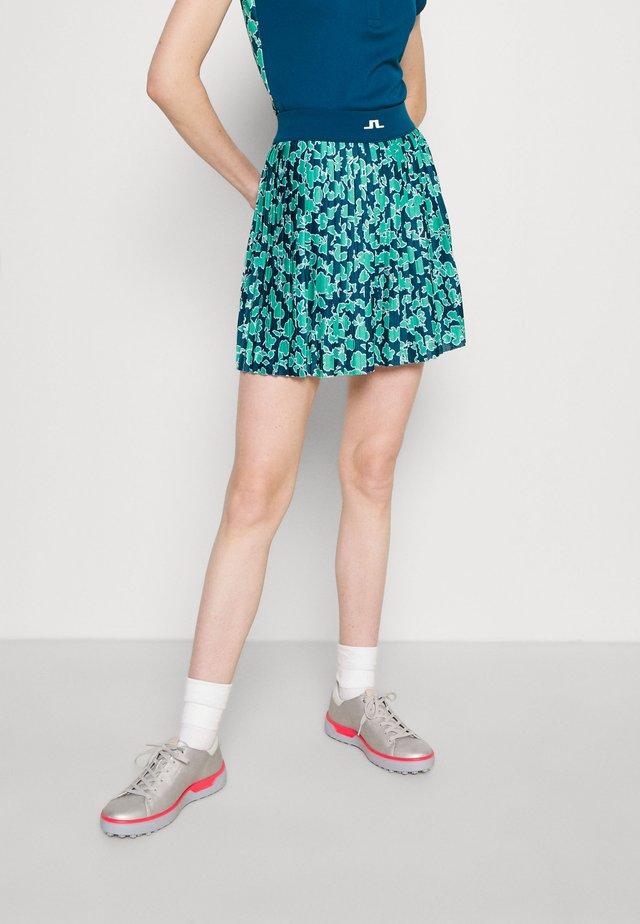 BINX PRINTED GOLF SKIRT - Sportovní sukně - poseidon