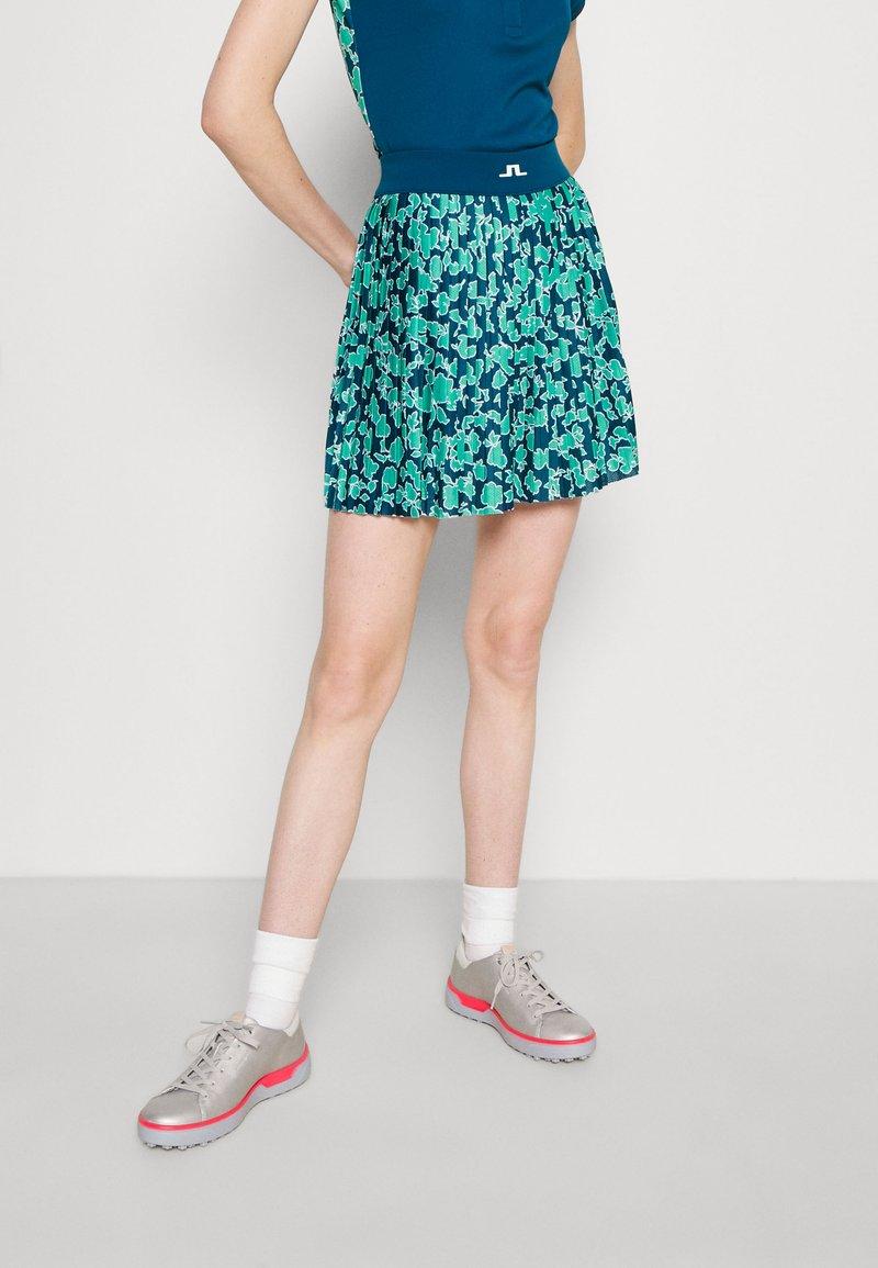 J.LINDEBERG - BINX PRINTED GOLF SKIRT - Sports skirt - poseidon