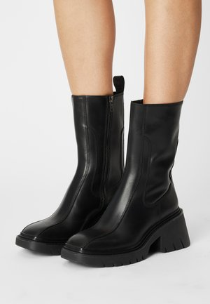 OCEAN - Platform boots - black
