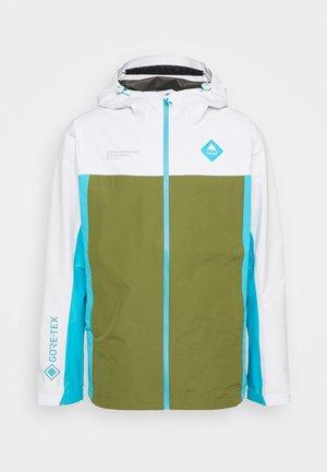 GORE PACKRITE - Hardshell jacket - white/khaki/cyan
