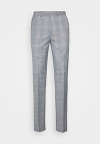 POW CHECK TROUSERS - Suit trousers - blue