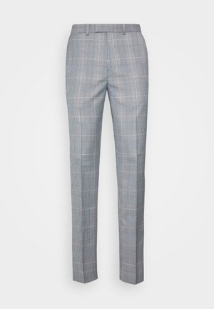 POW CHECK TROUSERS - Kostymbyxor - blue