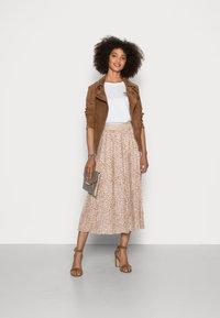 Rich & Royal - SKIRT PLISSEE - Pleated skirt - beige - 1