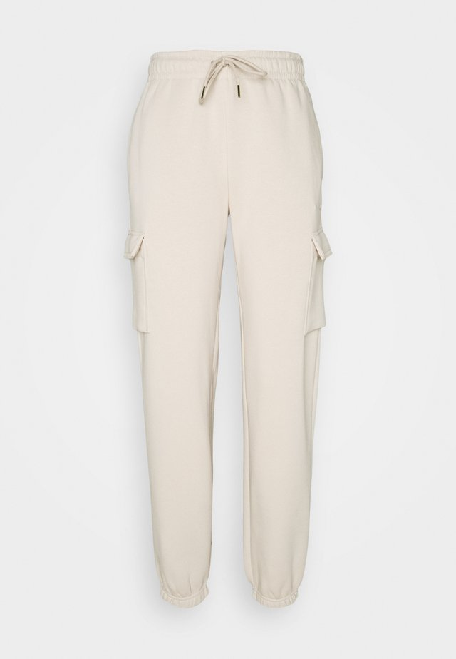 CARGO PANT LOOSE - Tracksuit bottoms - oatmeal