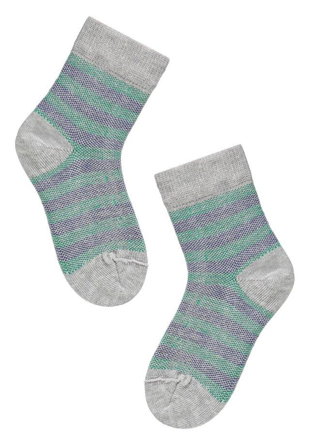 Socks - gatti grigio/pois nero