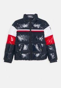 Tommy Hilfiger - SHINY COLORBLOCK JACKET - Winter jacket - blue - 0