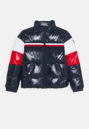 SHINY COLORBLOCK JACKET - Winter jacket - blue