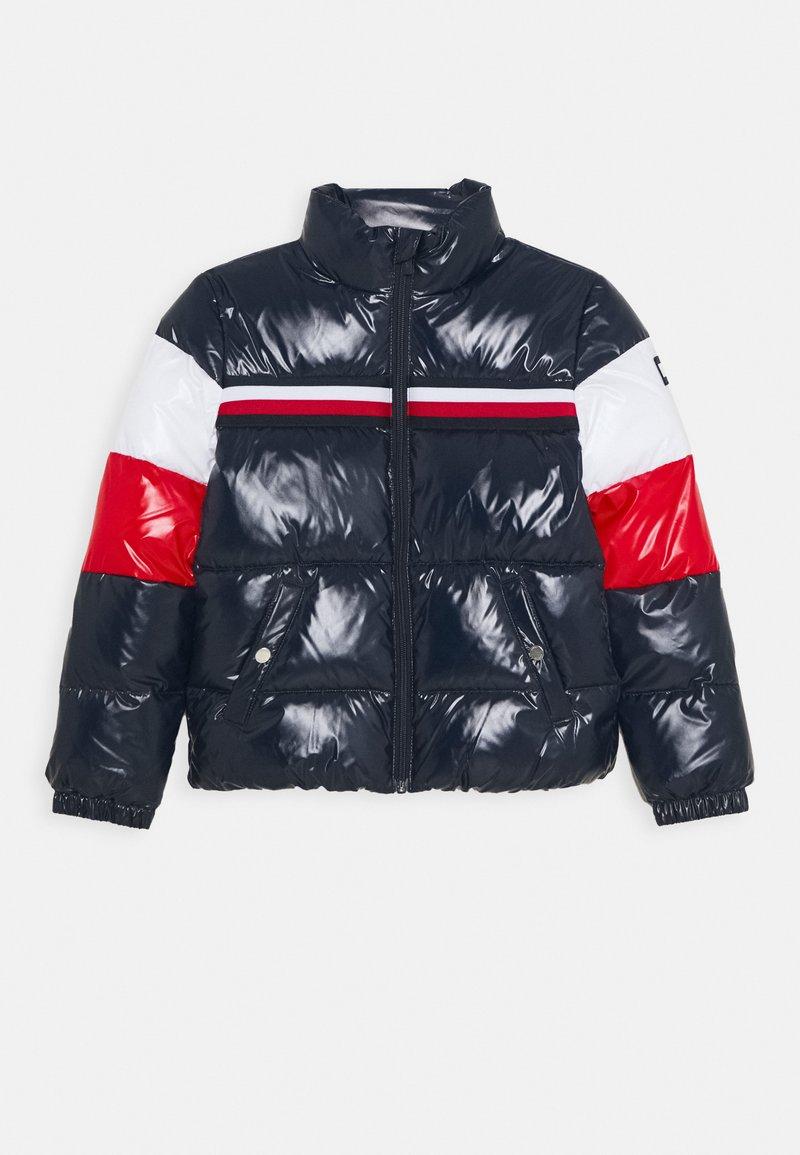 Tommy Hilfiger - SHINY COLORBLOCK JACKET - Winter jacket - blue
