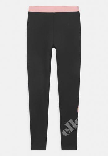 SPEEDIO - Leggings - black/lilac
