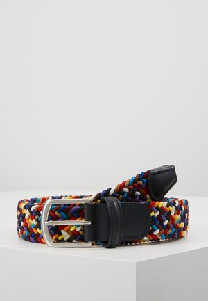 STRECH BELT UNISEX - Pletený pásek - multi-coloured/green/dark blue