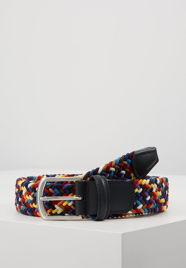 STRECH BELT UNISEX - Braided belt - multi-coloured/green/dark blue