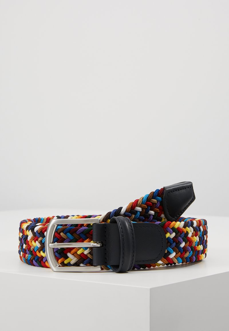 Anderson's - STRECH BELT UNISEX - Pletený pásek - multi-coloured/green/dark blue