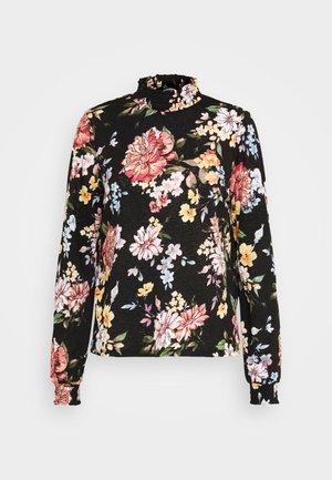 ONLLENA FLOWER SMOCK - T-shirt à manches longues - black