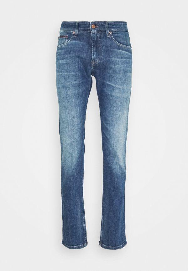 Tommy Jeans SCANTON 132 MID STRETCH - Jeansy Slim Fit - denim/niebieski denim Odzież Męska BZZL