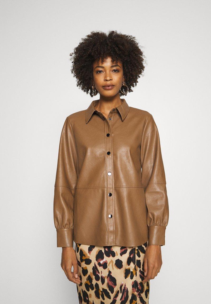 Opus - FEDA - Button-down blouse - peanut