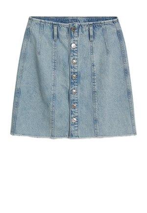 BUTTONS - A-line skirt - bleu moyen