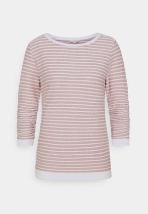 STRIPED - Sweatshirt - rose/white