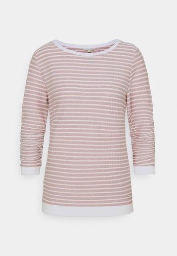 STRIPED - Sweatshirt - rose/white