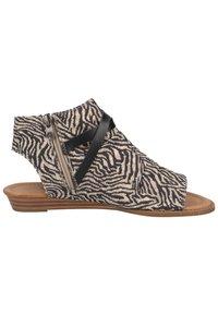 Blowfish Malibu - Ankle cuff sandals - zebra safari blanket blackdyecut - 6