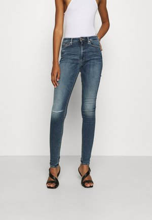 SYLVIA SUPER SKNY  - Jeansy Skinny Fit - palmer mid blue stretch destructed
