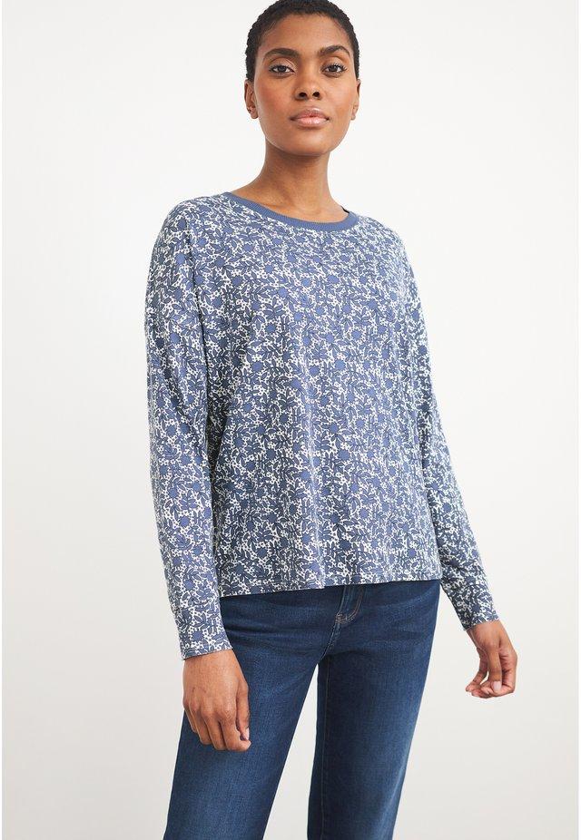 T-shirt à manches longues - marineblau mehrfarbig