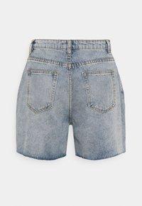 Missguided Tall - DISTRESS - Denim shorts - blue - 1