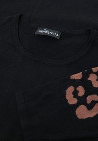 seeyou - LEOPARD - Print T-shirt - schwarz - 4