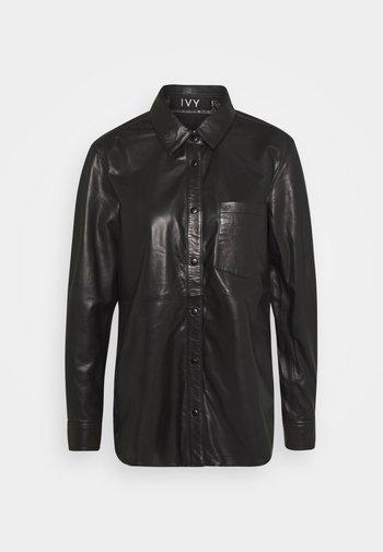 KYLIE - Button-down blouse - black