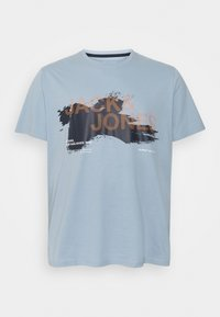 Jack & Jones - JCOHOLE TEE CREW NECK - T-shirt con stampa - dusty blue - 0