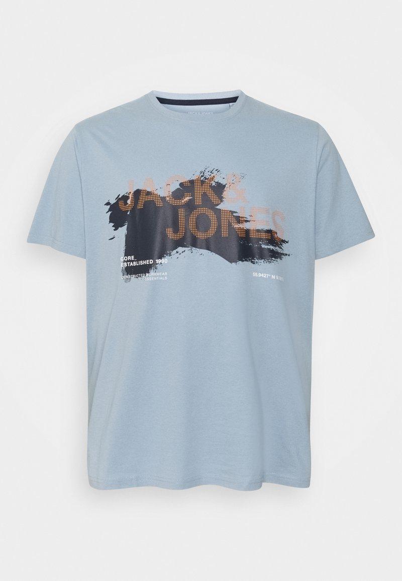 Jack & Jones - JCOHOLE TEE CREW NECK - T-shirt con stampa - dusty blue