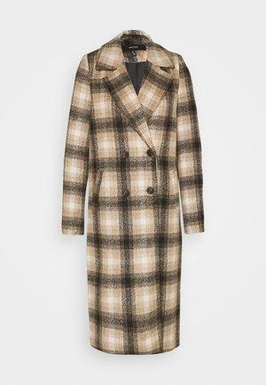 VMHAILEY CHECK LONG JACKET - Classic coat - tobacco brown/black/oatmeal