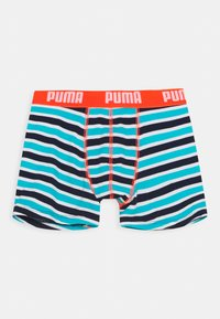 Puma - BOYS BASIC BOXER PRINTED STRIPE 2 PACK - Pants - fluo red/blue - 1