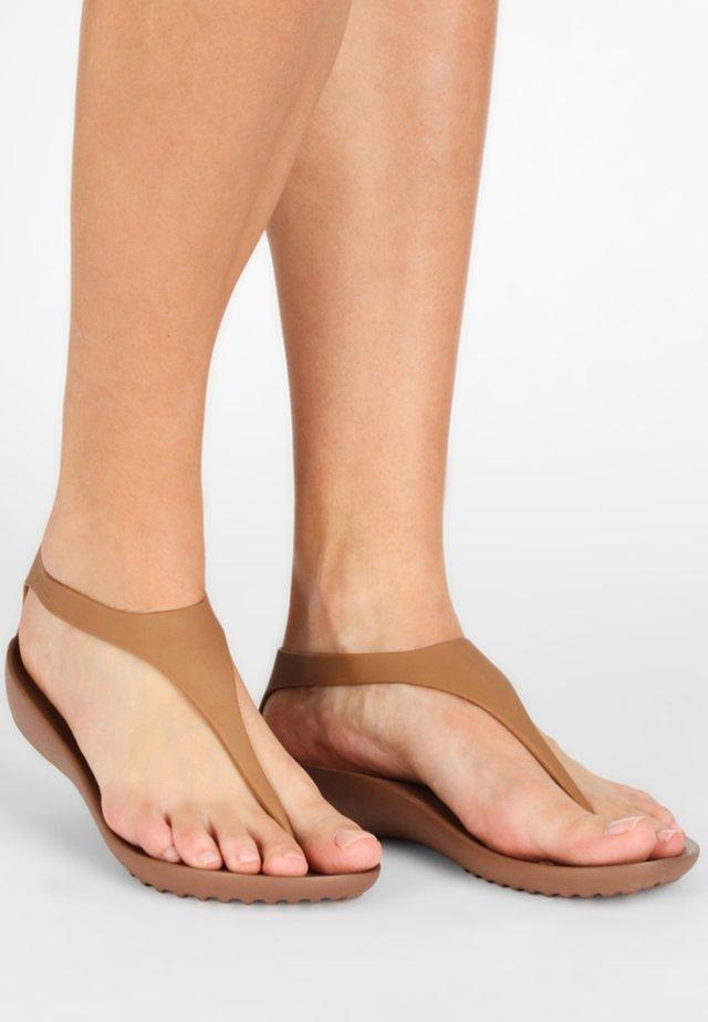 SERENA - Sandały kąpielowe - bronze