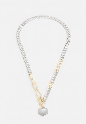 MIXED TAG CHAIN UNISEX - Necklace - silver-coloured/gold-coloured