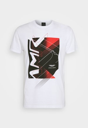 RACING TEE - Camiseta estampada - white