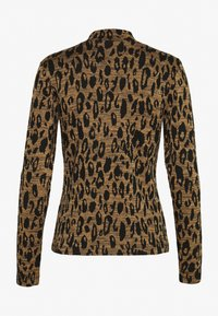 Whistles - HIGH NECK ANIMAL - Top s dlouhým rukávem - black/tan - 1