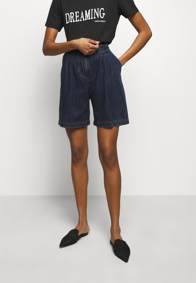 TROUSERS - Jeans Short / cowboy shorts - blue